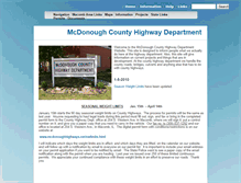 Tablet Preview of mcdonoughhighways.net